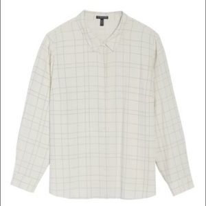 Eileen Fisher Tencel Checkered Shirt